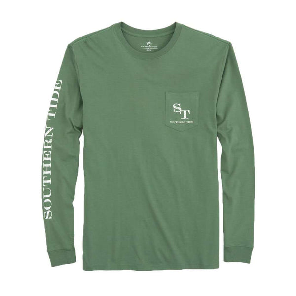 Southern Tide Long Sleeve Distressed Outline Skipjack T-Shirt in Myrtle by Southern Tide