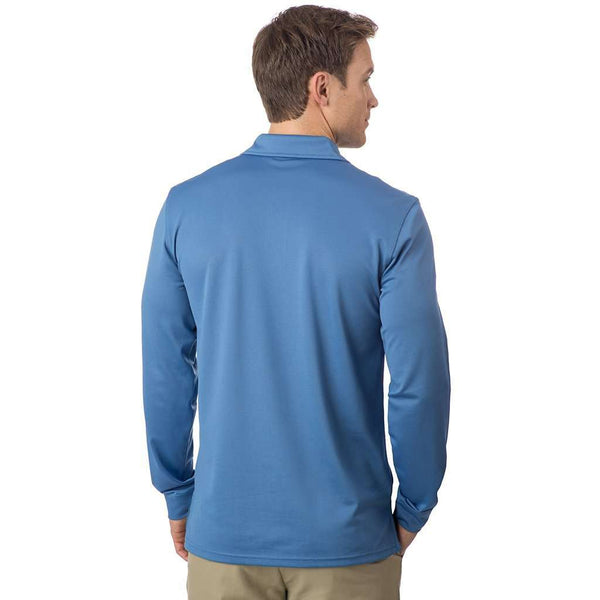 Long Sleeve Roster Performance Polo in Dutch Blue by Southern Tide - FINAL SALE