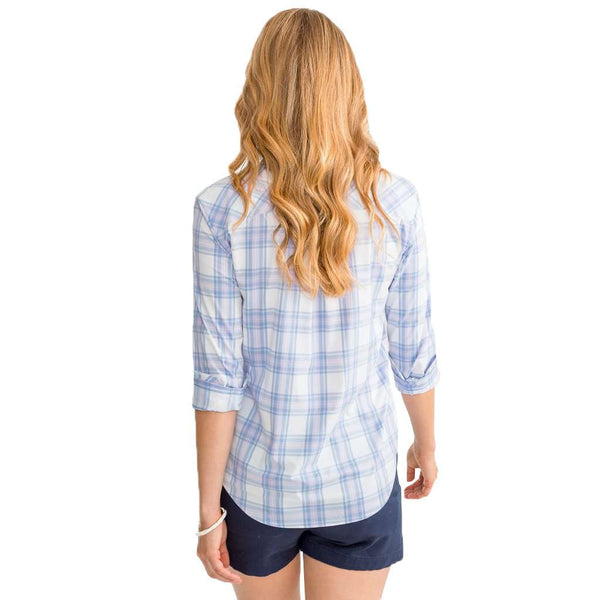 Southern Tide Lost Beach Plaid Hadley Intercoastal Performance Popover