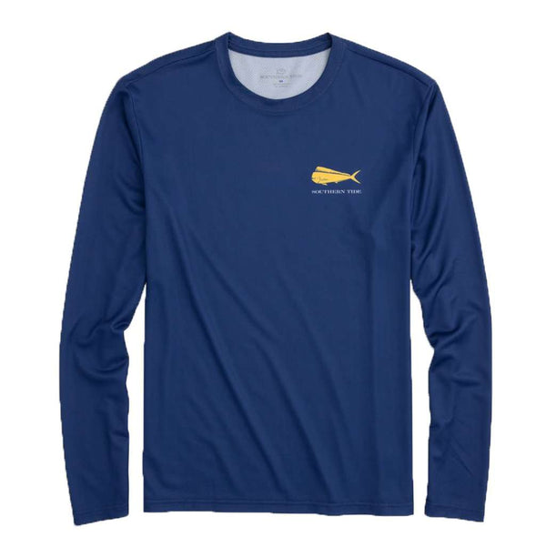 Southern Tide Mahi Mahi Fish Flag Long Sleeve Performance T-Shirt