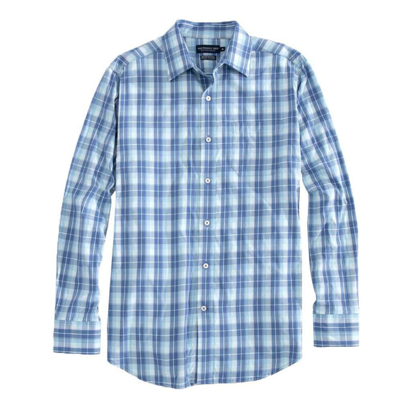 Southern Tide Mainstay Plaid Brrrº Intercoastal Performance Shirt