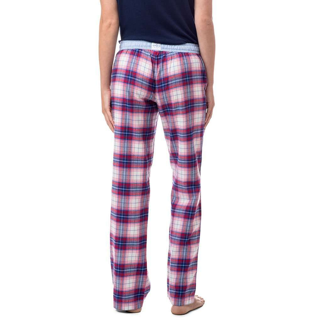 Southern Tide Merrytime Plaid Lounge Pant in Marshmallow