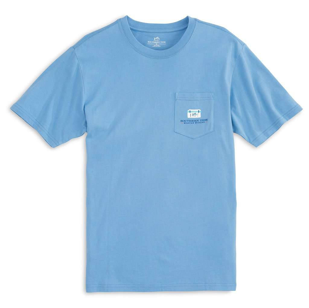 Southern Tide Mountain Weekend Camping T-Shirt in Ocean Channel