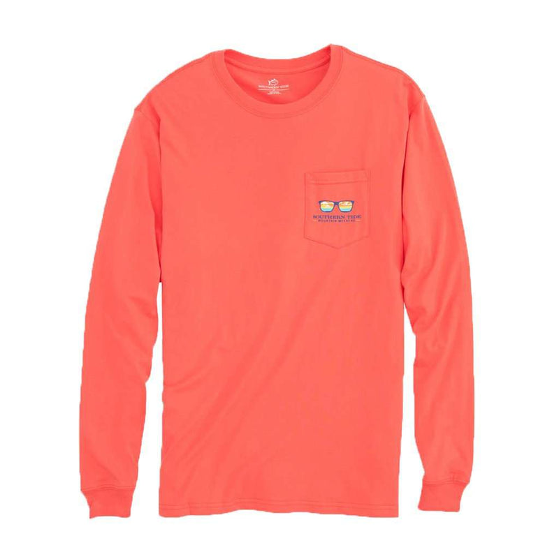 Mountain Weekend Cooler Long Sleeve T-Shirt in Sea Coral by Southern Tide - FINAL SALE