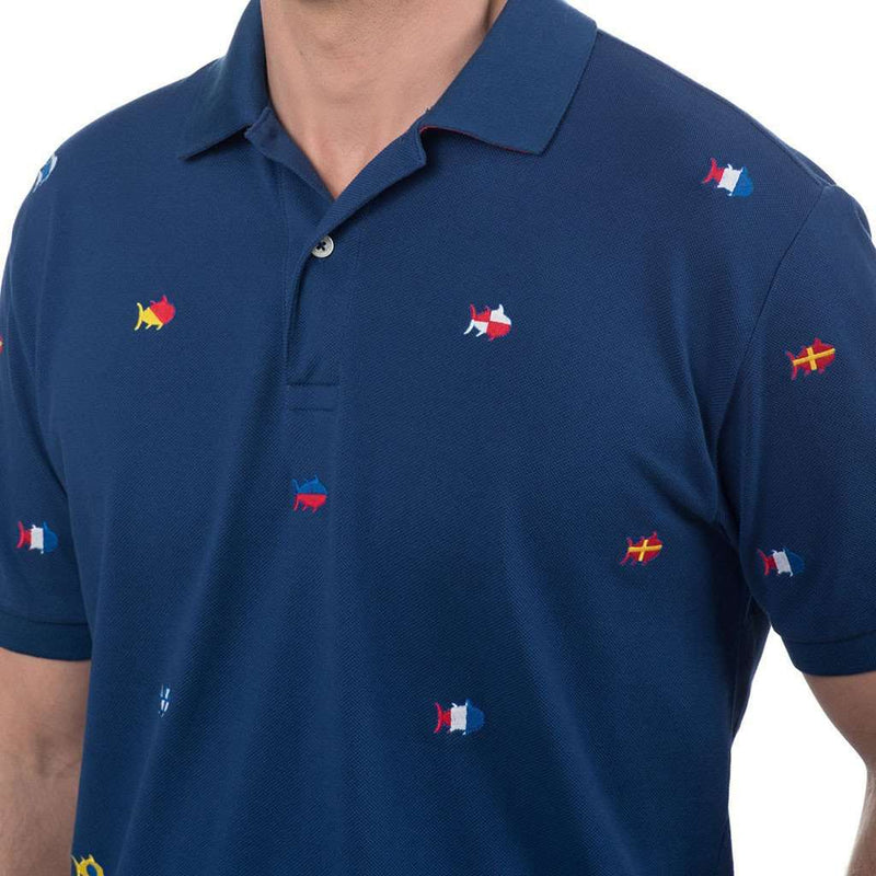 Nautical Embroidered Skipjack Polo in Yacht Blue by Southern Tide - FINAL SALE