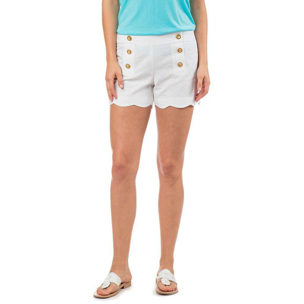 Nautical Scallop Short in Classic White by Southern Tide - Country Club Prep
