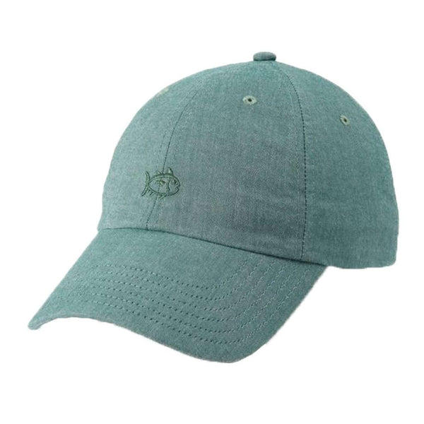 Southern Tide Oxford Chambray Skipjack Hat in Myrtle
