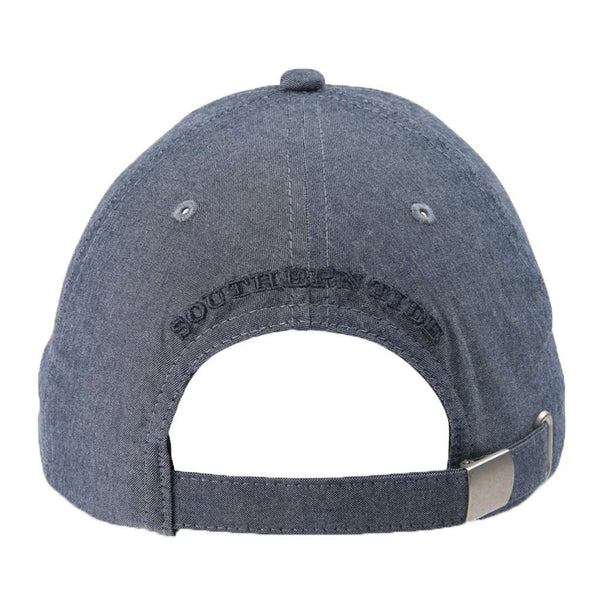 Southern Tide Oxford Chambray Skipjack Hat in True Navy