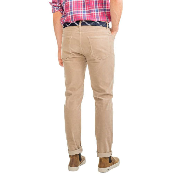 Southern Tide Pine Island Cord Pant in Sandstone Khaki