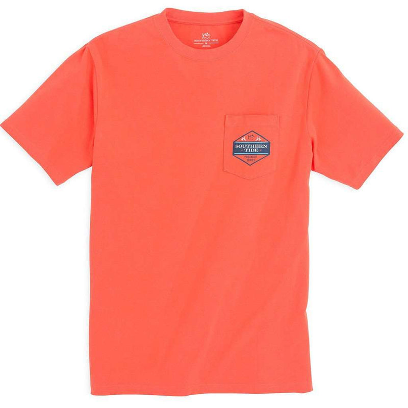 Predator Series Hammerhead Tee Shirt in Hot Coral by Southern Tide - FINAL SALE