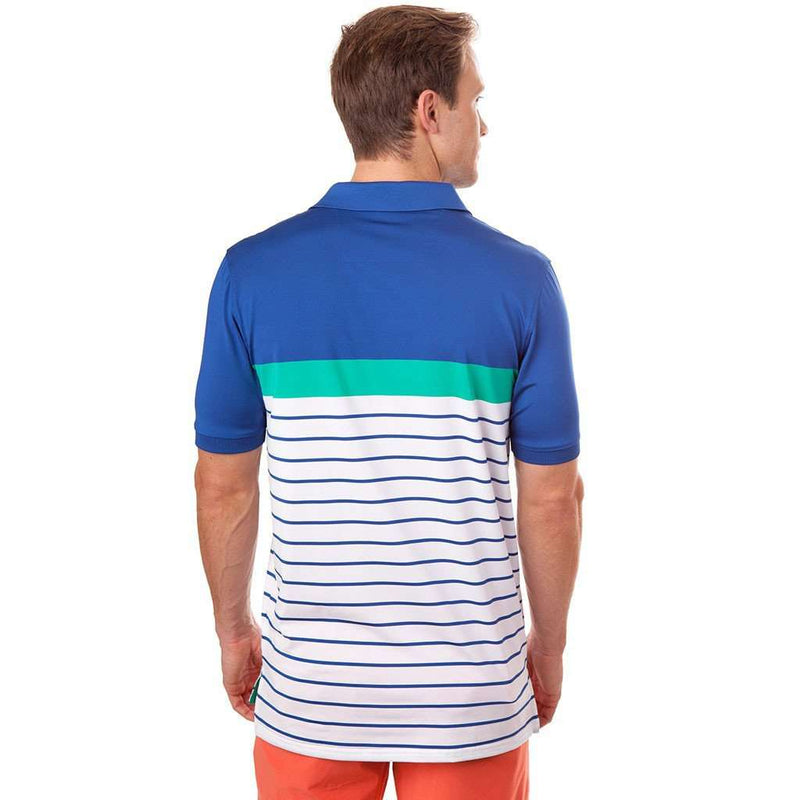 Ryder Stripe Performance Polo in Augusta Green by Southern Tide - FINAL SALE