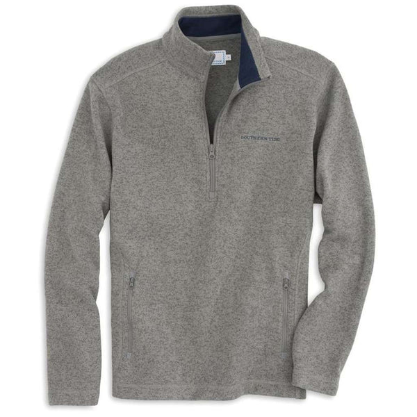Southern Tide Samson Peak 1/4 Zip Sweater Fleece in Steel Grey