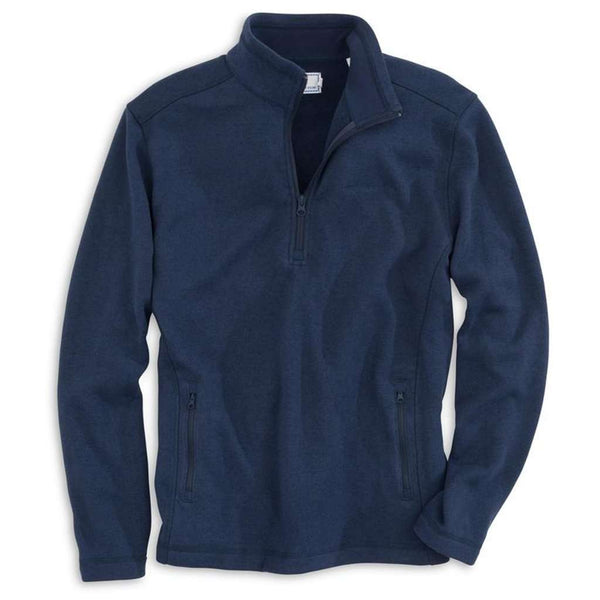 Southern Tide Samson Peak 1/4 Zip Sweater Fleece in True Navy