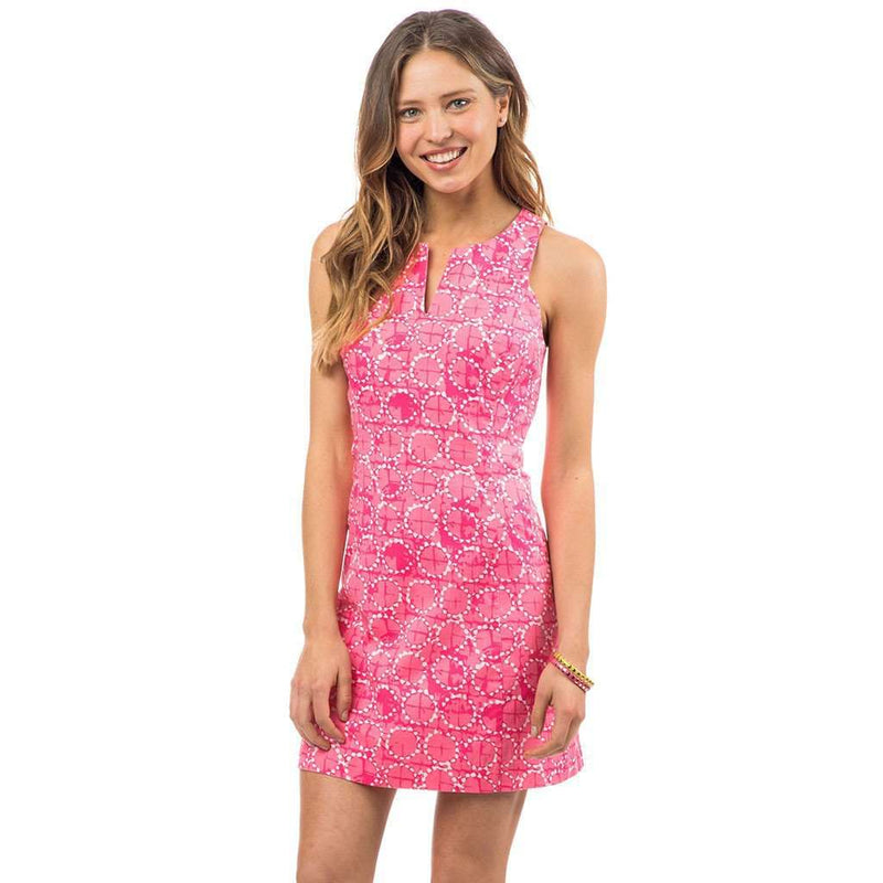 Southern Tide Sand Dollar Print Dress in Smoothie Pink
