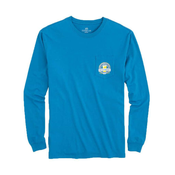 Southern Tide Southern Brewery Long Sleeve T-Shirt in Deep Water