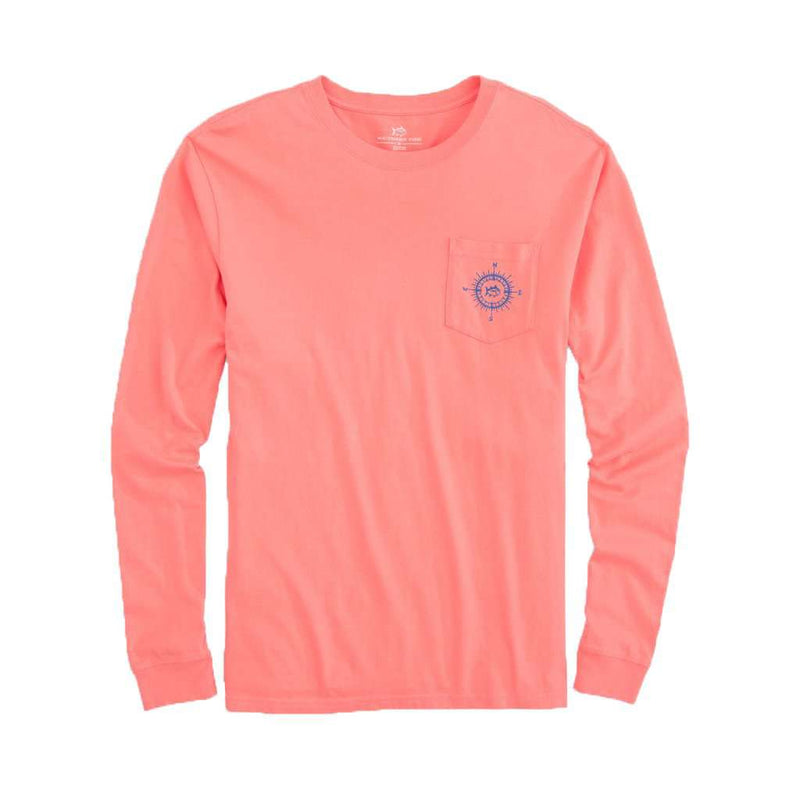 Southern Tide Southern Compass Long Sleeve T-Shirt in Shell Pink