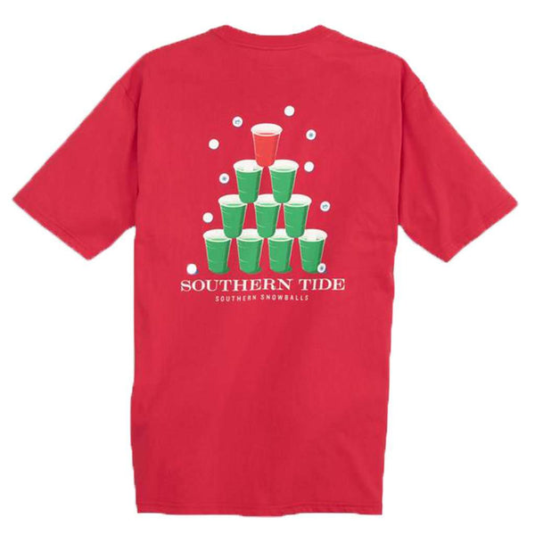 Southern Tide Southern Snowball T-Shirt in Reggae Red