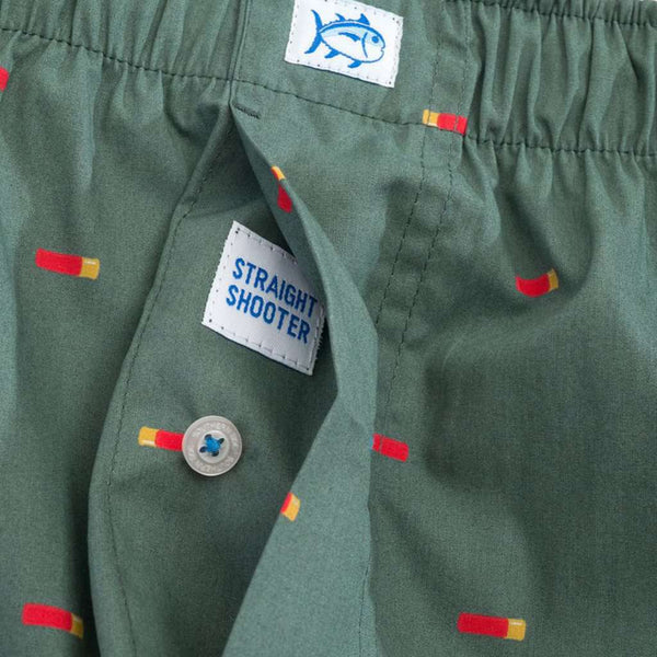 Southern Tide Straight Shooter Boxer in Duck Green