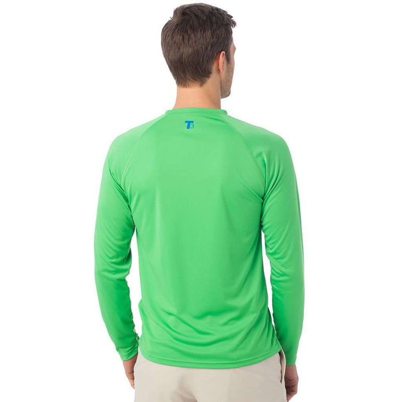 Tide to Trail Long Sleeve Performance Tee Shirt in Island Green by Southern Tide - FINAL SALE
