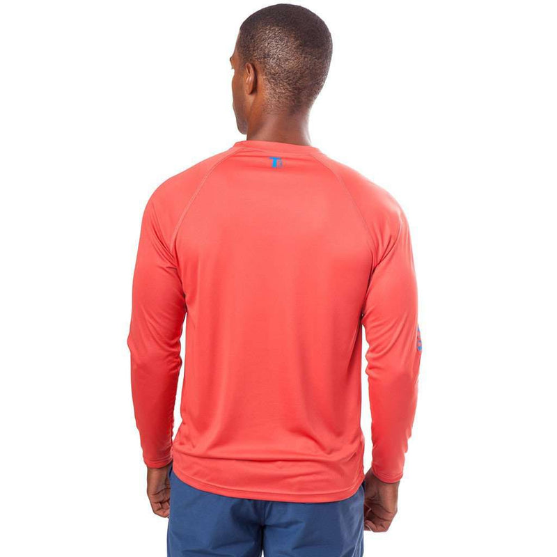 Tide to Trail Long Sleeve Performance Tee Shirt in Terracotta by Southern Tide - FINAL SALE