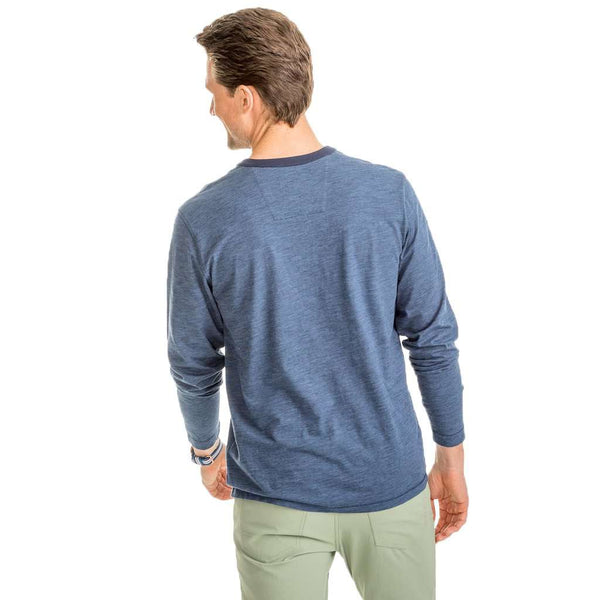 Southern Tide Walsh Striped Henley in True Navy