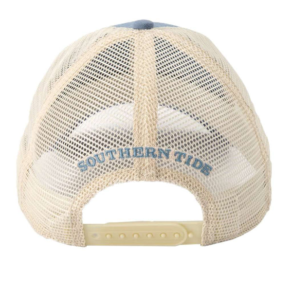 Southern Tide Washed Skipjack Trucker Hat in Ash Blue ... 62ba055ed767