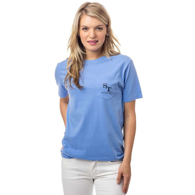 Women's Skipjack Graphic T-Shirt in Sail Blue by Southern Tide - FINAL SALE