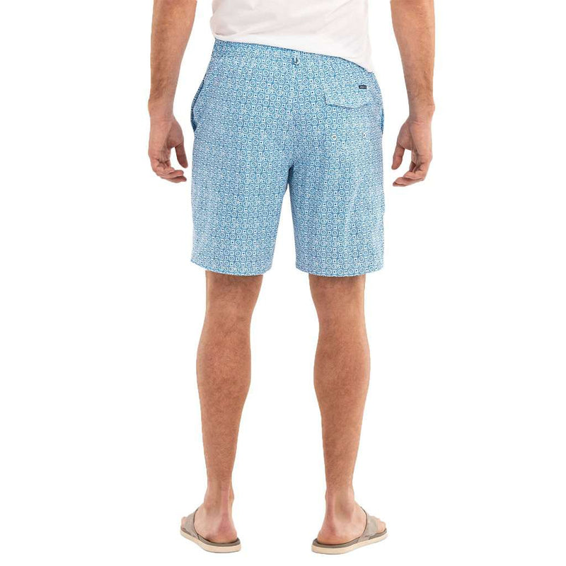 Southport Half Elastic Surf Shorts in Laguna Blue by Johnnie-O - FINAL SALE