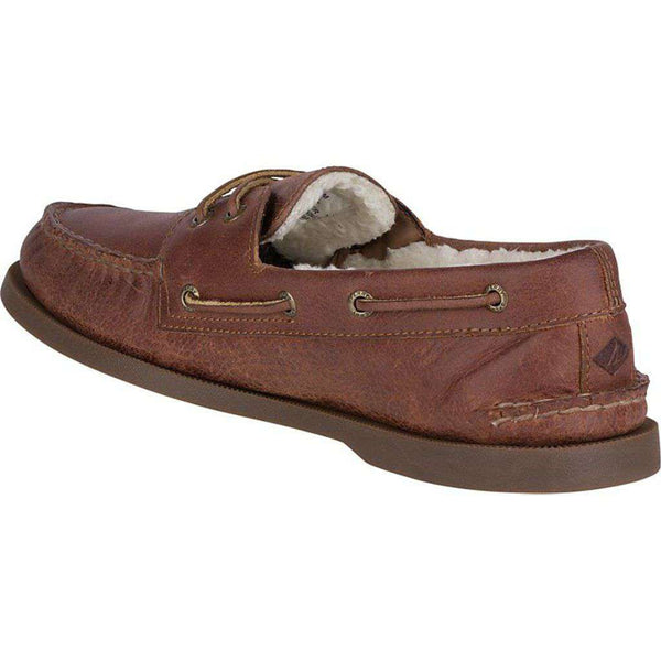 Sperry Authentic Original 2-Eye Winter Boat Shoe in Brown