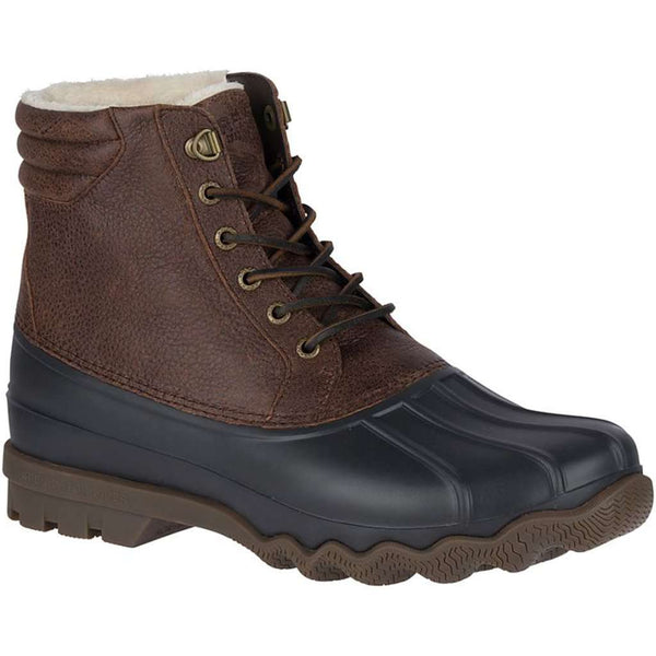 Sperry Men's Avenue Winter Duck Boot in Brown & Black