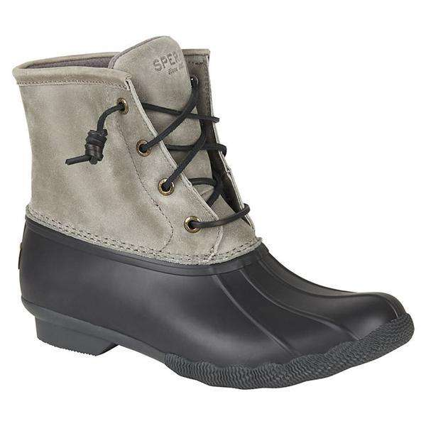 Women's Saltwater Duck Boot in Grey & Black by Sperry