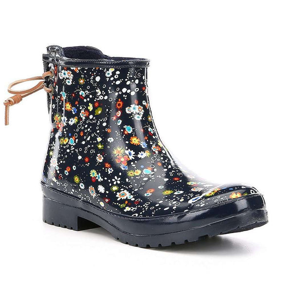 Sperry Women's Walker Turf Rain Boot in Floral Navy