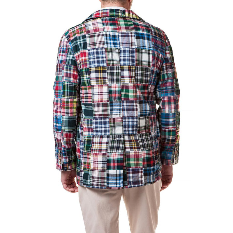 Spinnaker Blazer in Lincoln Patch Madras by Castaway Clothing