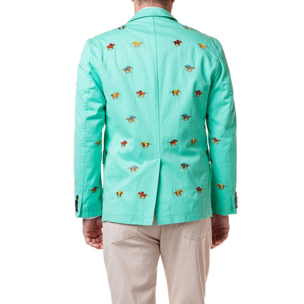Spinnaker Blazer with Racing Horses in Palm by Castaway Clothing