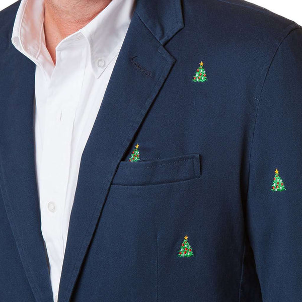 Castaway Clothing Spinnaker Blazer with Embroidered Christmas Trees by Castaway Clothing