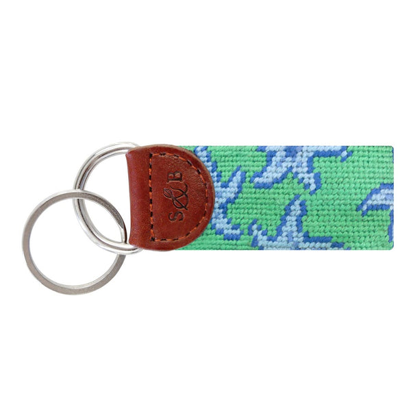 Starfish Needlepoint Key Fob by Smathers & Branson