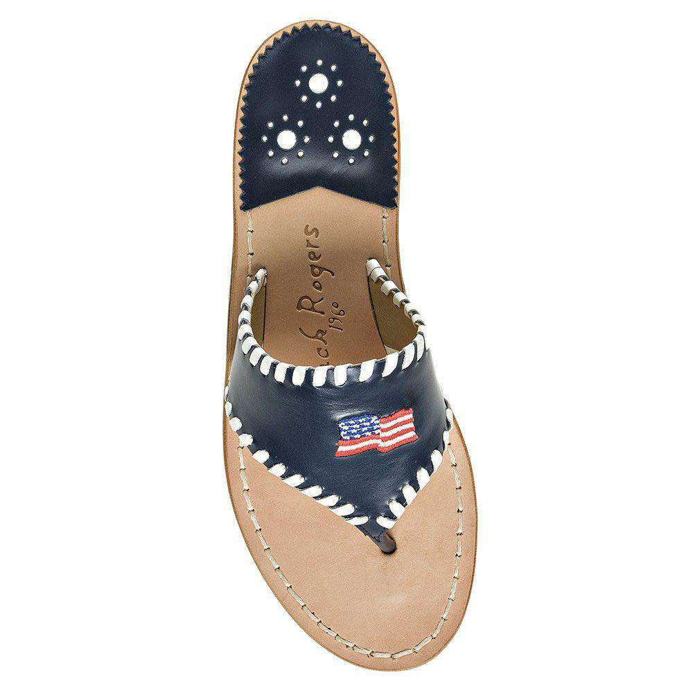 Exclusive Stars & Stripes Sandal in Navy by Jack Rogers  - 1