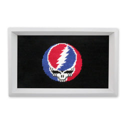 Steal Your Face Needlepoint Valet Tray by Smathers & Branson