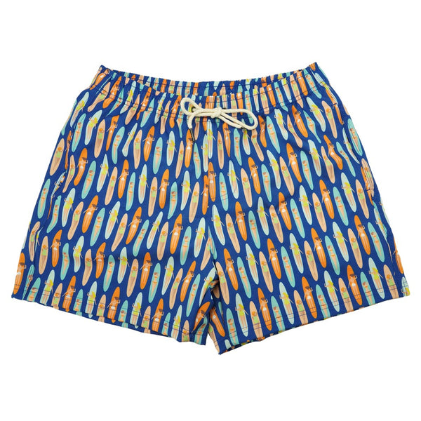 Long Board Babes Swim Trunks by Two Left Feet