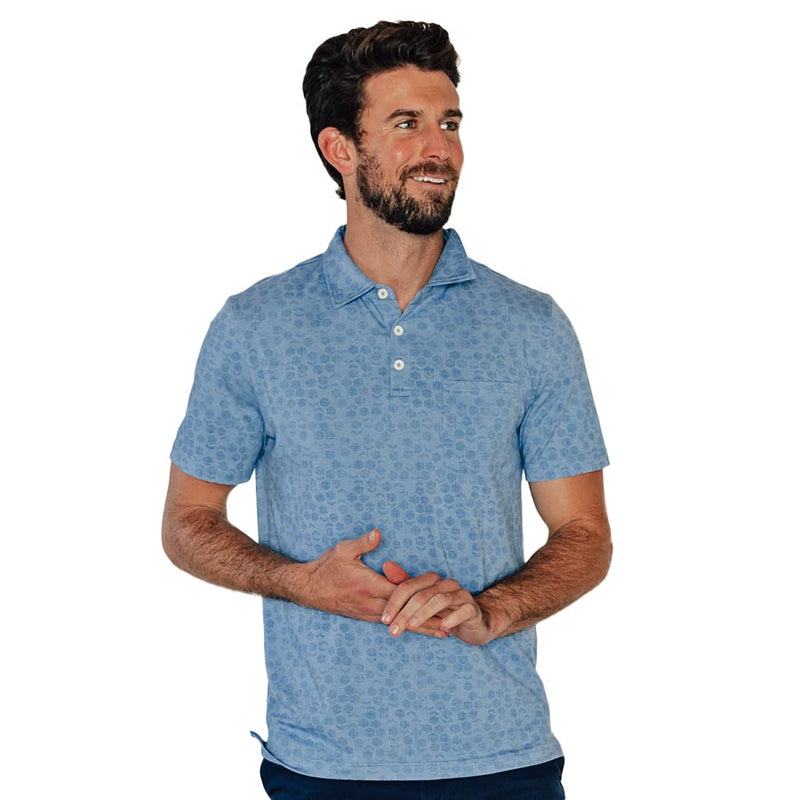 Active Puremeso Geo Print Polo by The Normal Brand