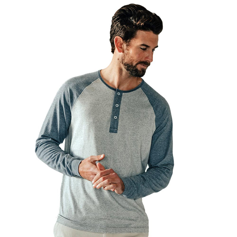 Active Puremeso Retro Long Sleeve Henley by The Normal Brand