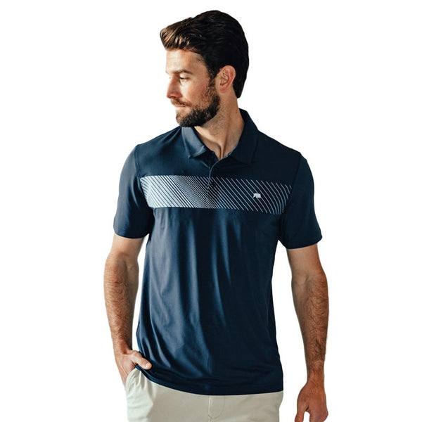 Bear Stripe Performance Polo by The Normal Brand