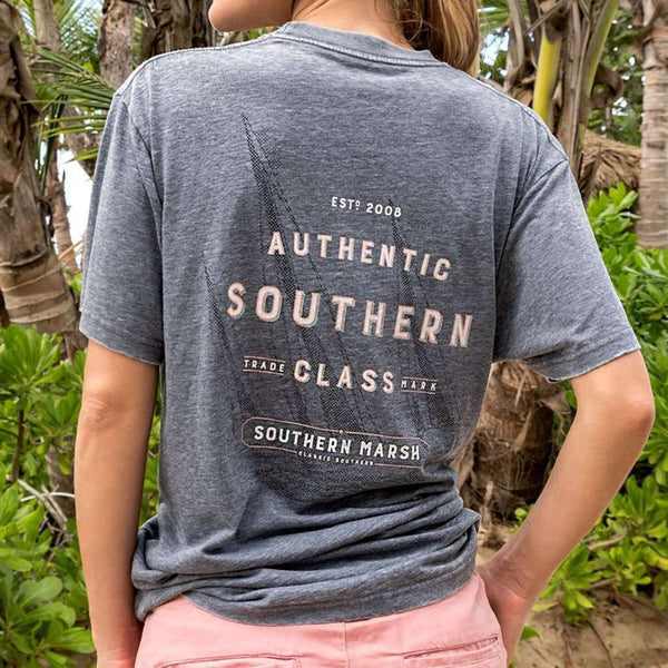 Southern Marsh SEAWASH™ Tee - Branding - Sailboat by Southern Marsh