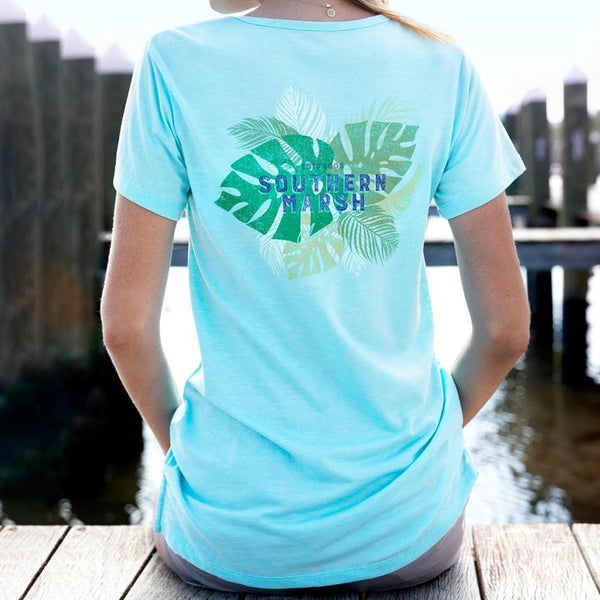 The Seawash Tropical Crewneck Tee by Southern Marsh