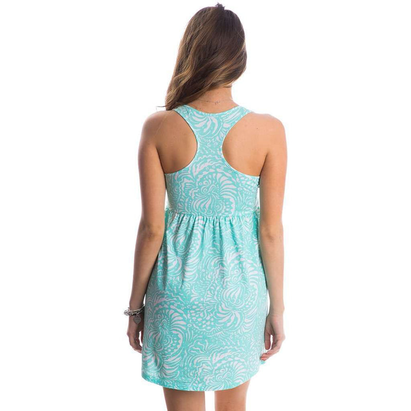 Printed Tailgate Dress in Ocean Palm by Lauren James - FINAL SALE