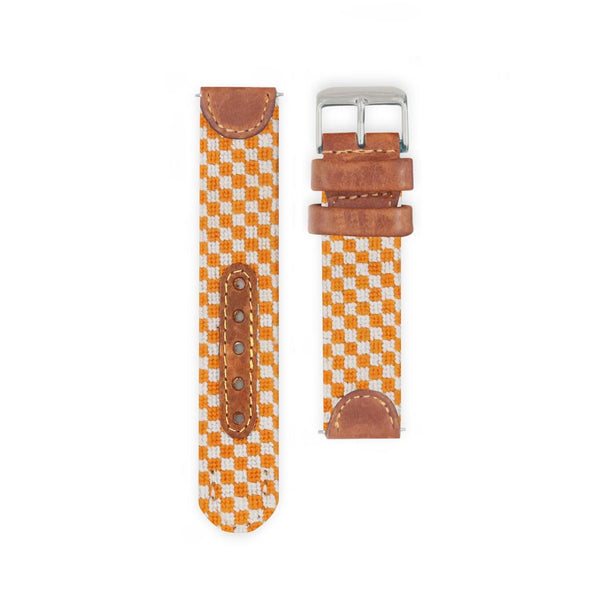 University of Tennessee Checkered Needlepoint Watch by Smathers & Branson
