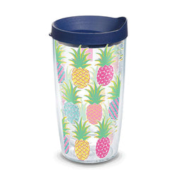 Simply Southern® Colorful Pineapples 16oz Tumbler by Tervis
