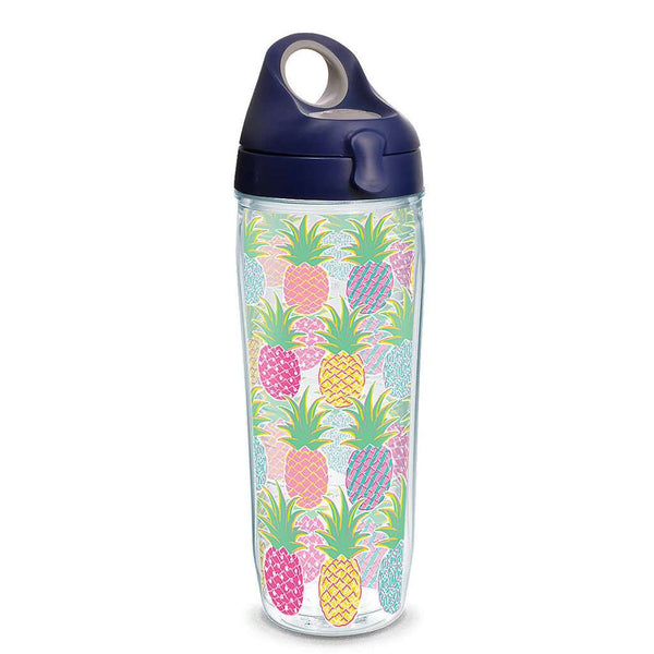 Simply Southern® Colorful Pineapples 24oz Water Bottle by Tervis
