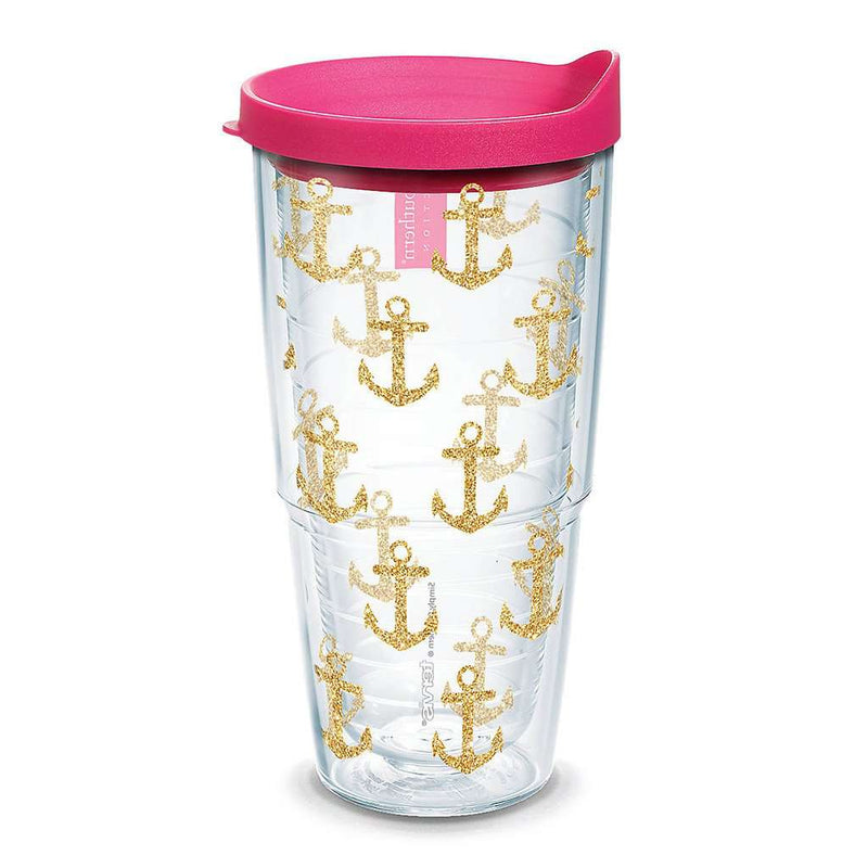 Simply Southern® Gold Anchors 24oz Tumbler by Tervis