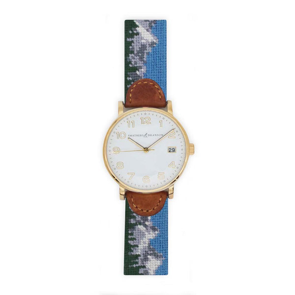 Tetons Needlepoint Watch by Smathers & Branson
